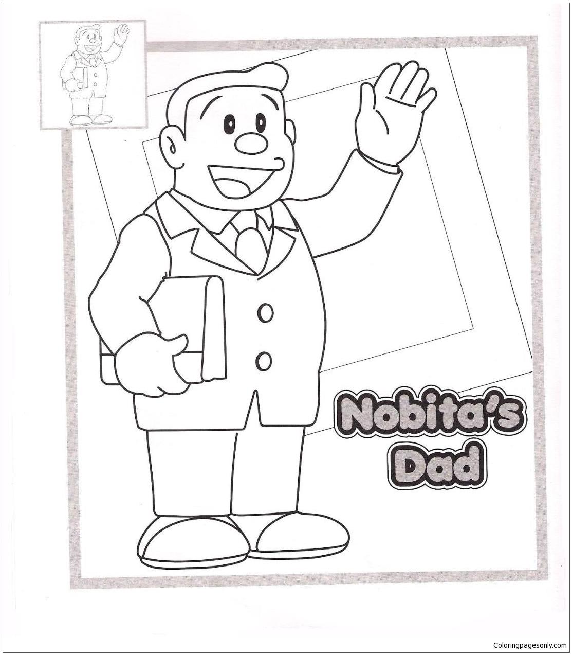Nobita S Dad Coloring Page