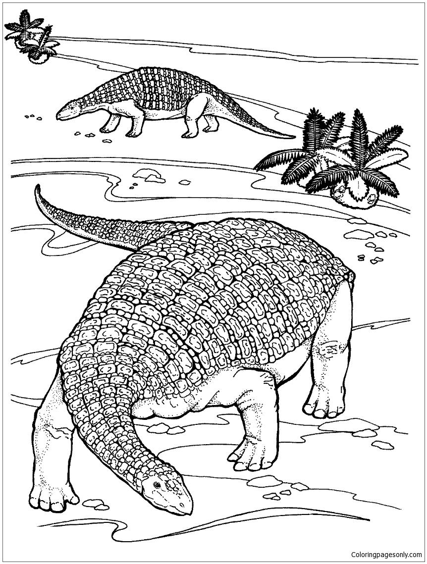 Nodosaurus Dinosaur Coloring Page
