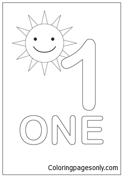 Number One With The Sun Coloring Page - Free Coloring ...