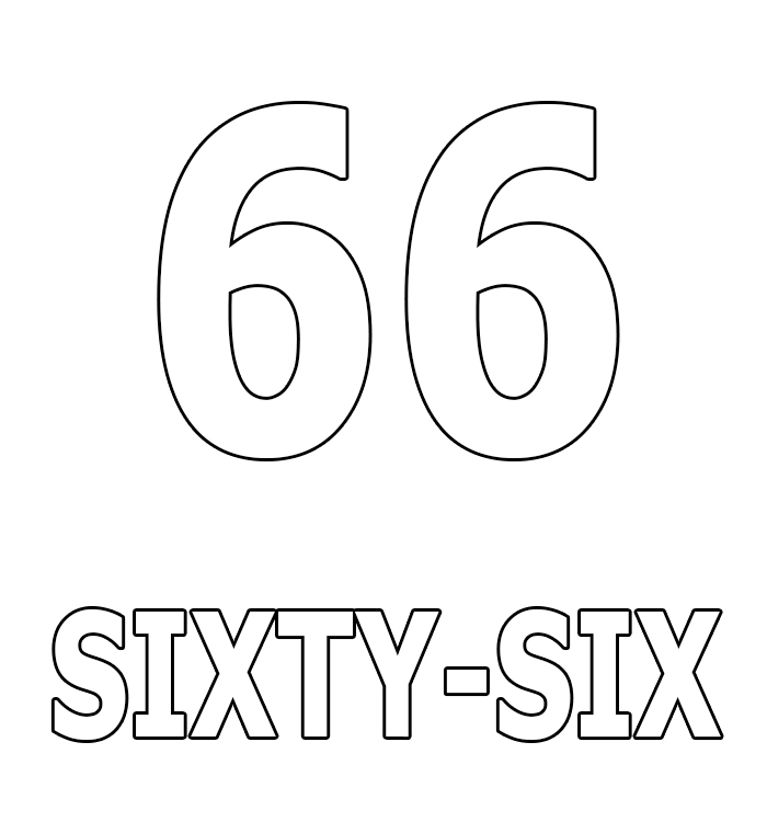 Number Sixty-Six Coloring Page