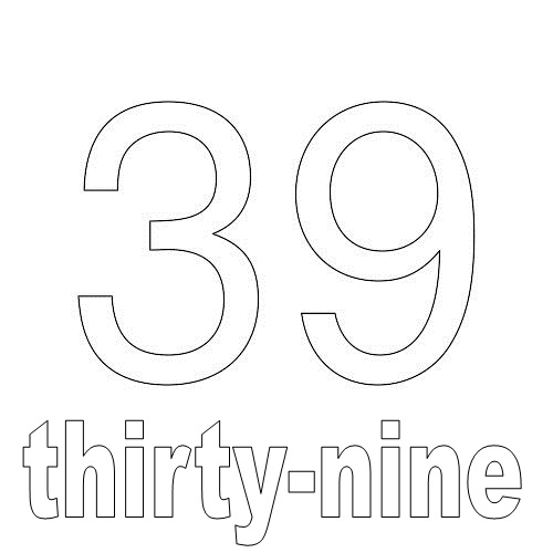 Number Thirty-Nine
