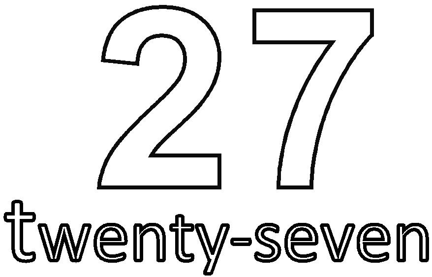 Number Twenty-Seven Coloring Page