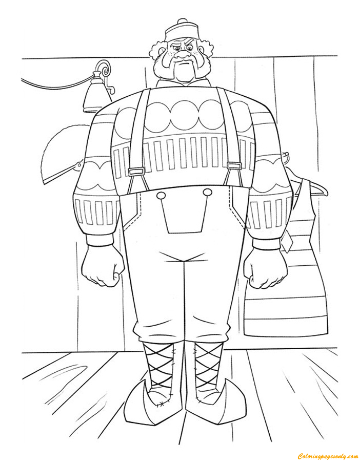 Oaken, A Large Man Coloring Page
