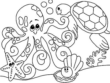 Ocean Animal Coloring Page