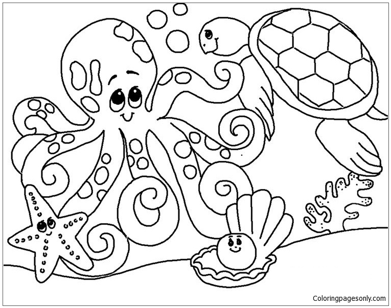 - Ocean Animal Coloring Page - Free Coloring Pages Online