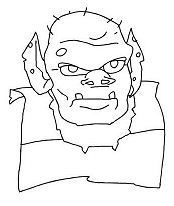 Ogre Face Coloring Page
