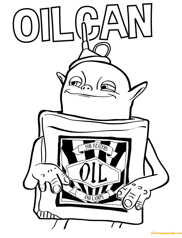 Oil Can From Troll Coloring Page - Free Coloring Pages Online