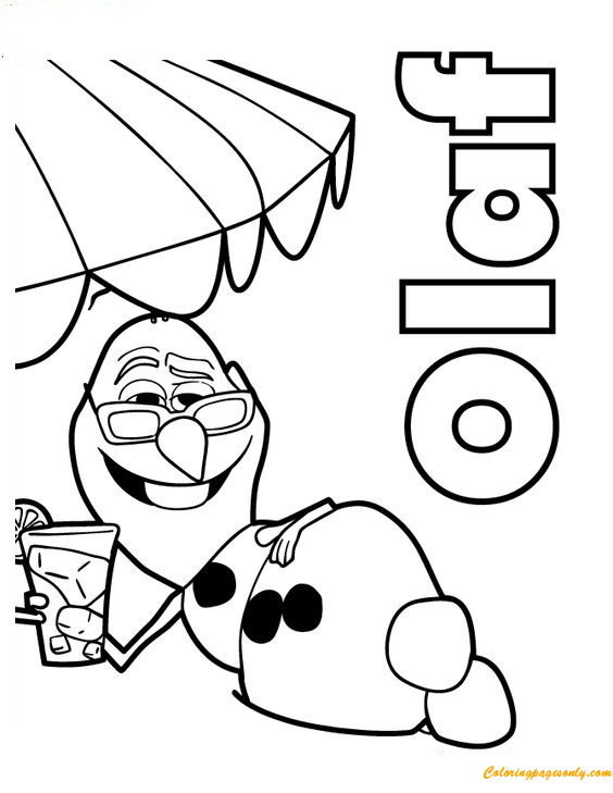 Olaf Cute Coloring Page