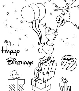 Olaf Reaches For Carrot Nose Coloring Page