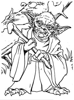 Old Baby Yoda Coloring Page