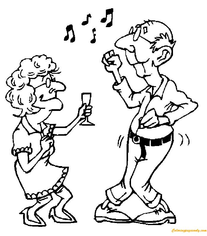 coloring pages of elderly people - photo#8
