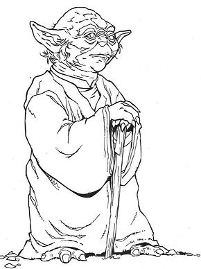 Old Yoda Coloring Page