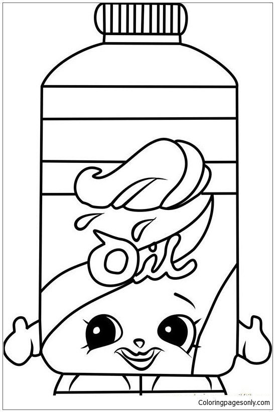 Olivia Oil Shopkins Coloring Page