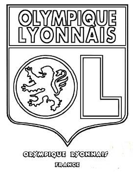 Olympique Lyonnais Coloring Page