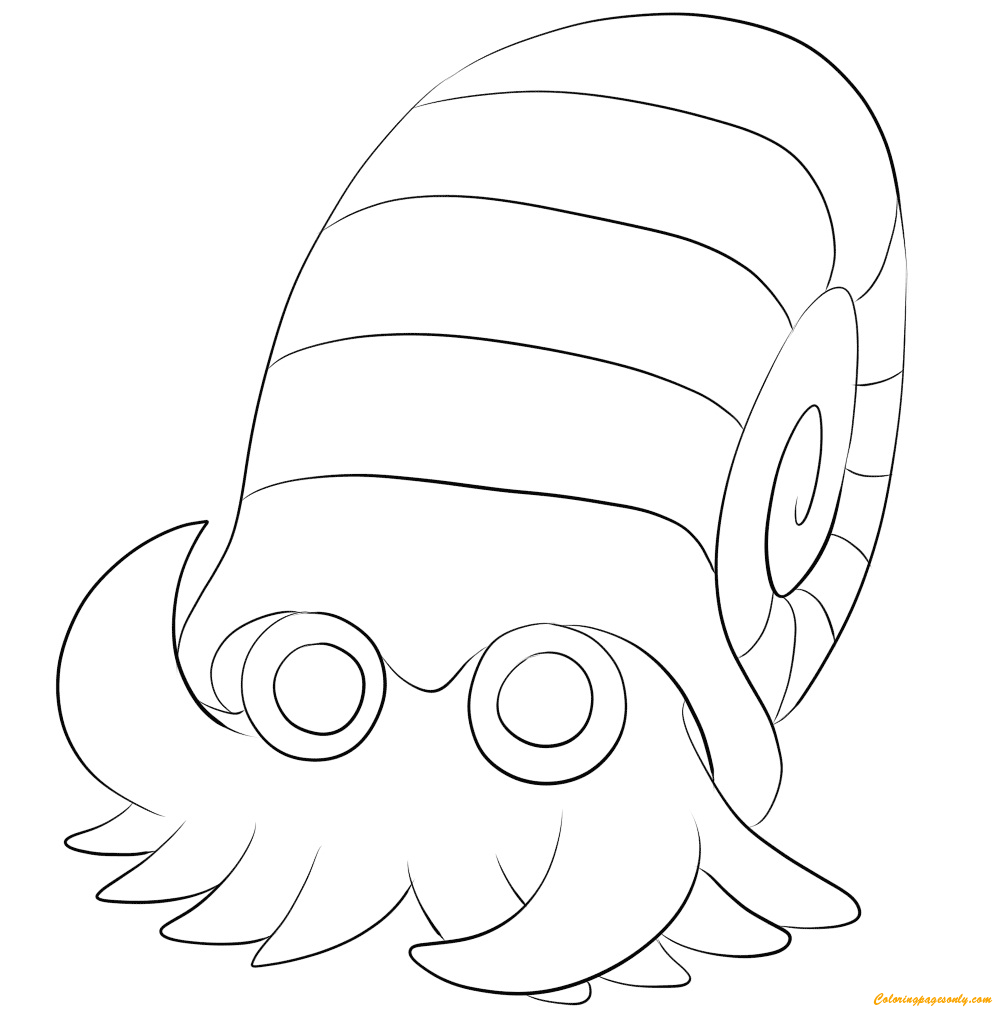 Omanyte Pokemon Coloring Page - Free Coloring Pages Online