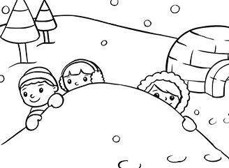 On A Snowy Day Coloring Page
