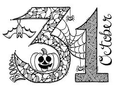 On Halloween October 31 Coloring Page