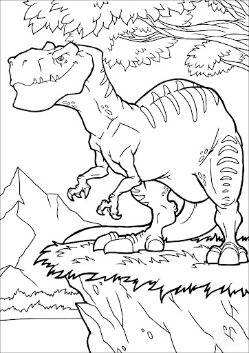 On the grass Coloring Page