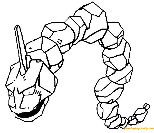 Onix pokemon coloring page free coloring pages online for Pokemon da colorare e stampare