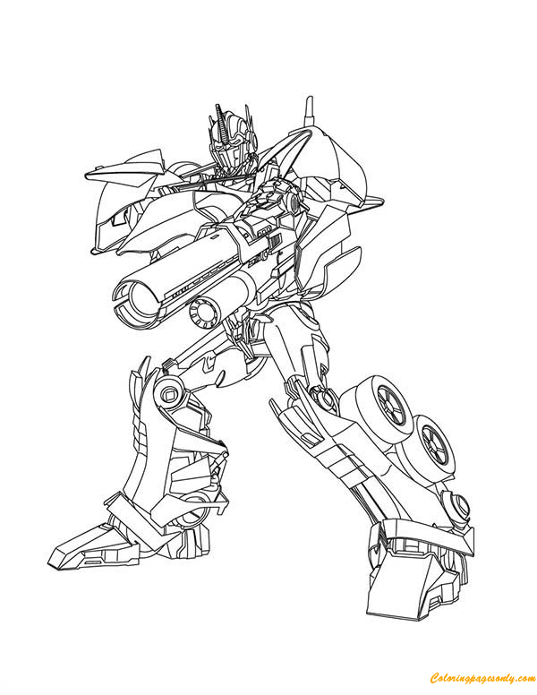 Optimus Prime From Transformers Coloring Page Free Coloring Pages Online