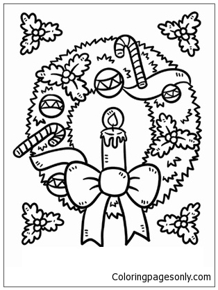 Ornament Wreath Christmas 1 Coloring Page