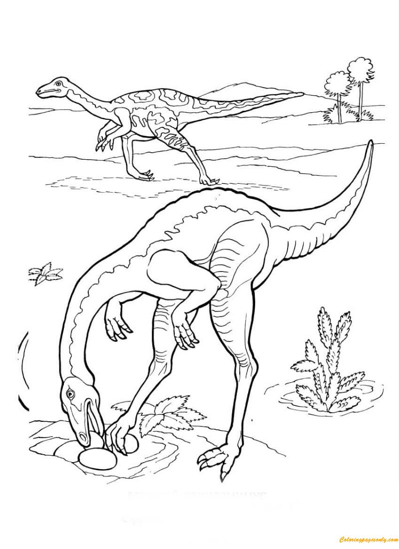 Ornithomimus Strutiomimus Coloring Page