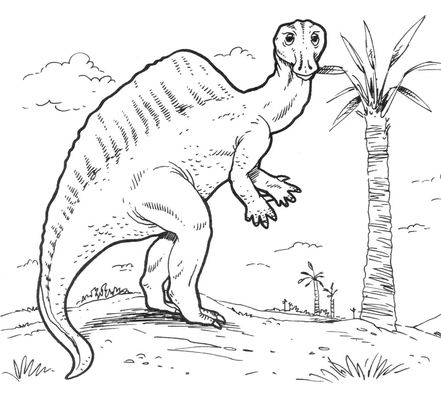 Ouranosaurus Dinosaur Coloring Page