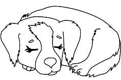 Outstanding Cute Puppy Coloring Page