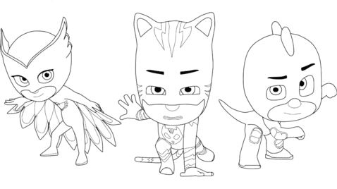 Owlette, Catboy and Gecko From Pj Masks