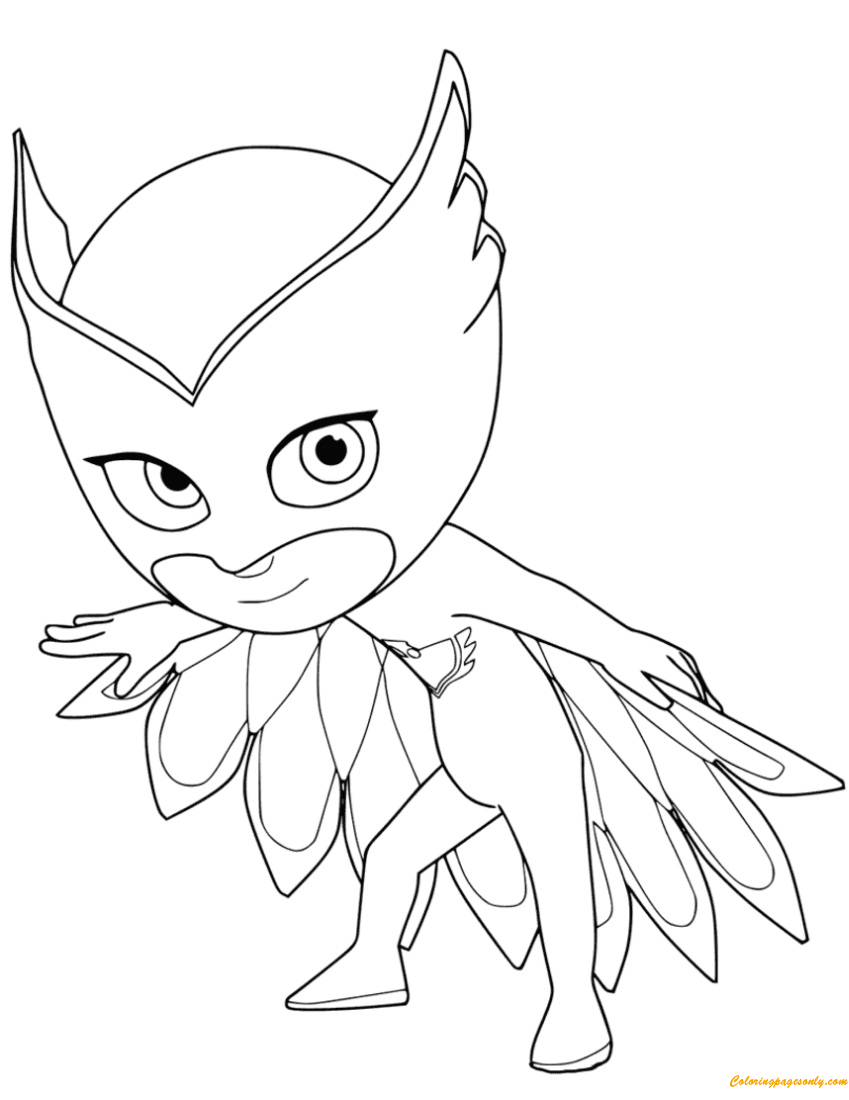 Owlette From PJ Masks Coloring Page