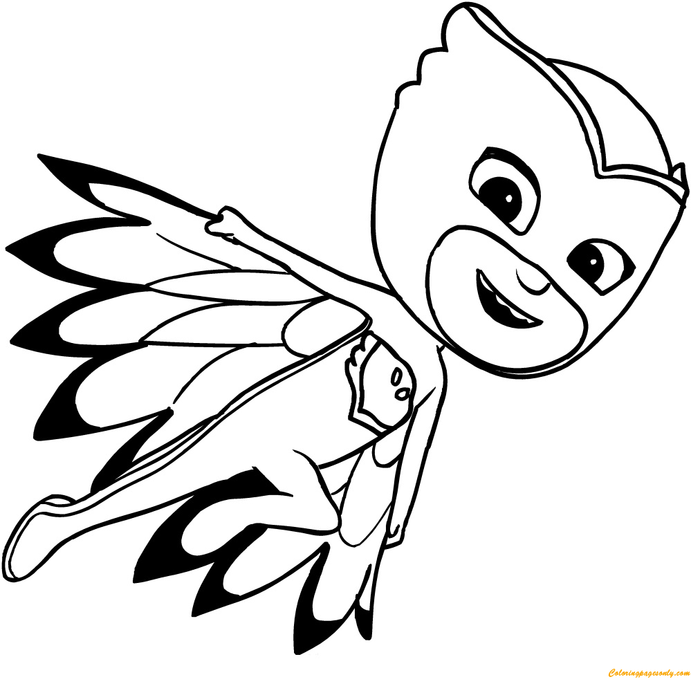 full screen download print picture - Pj Masks Coloring Pages