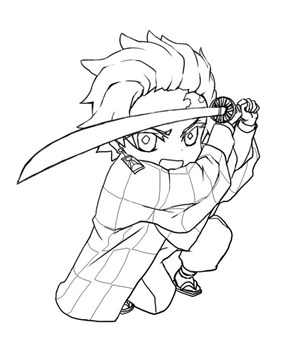 Ozaki Demon Slayer Character Coloring Page
