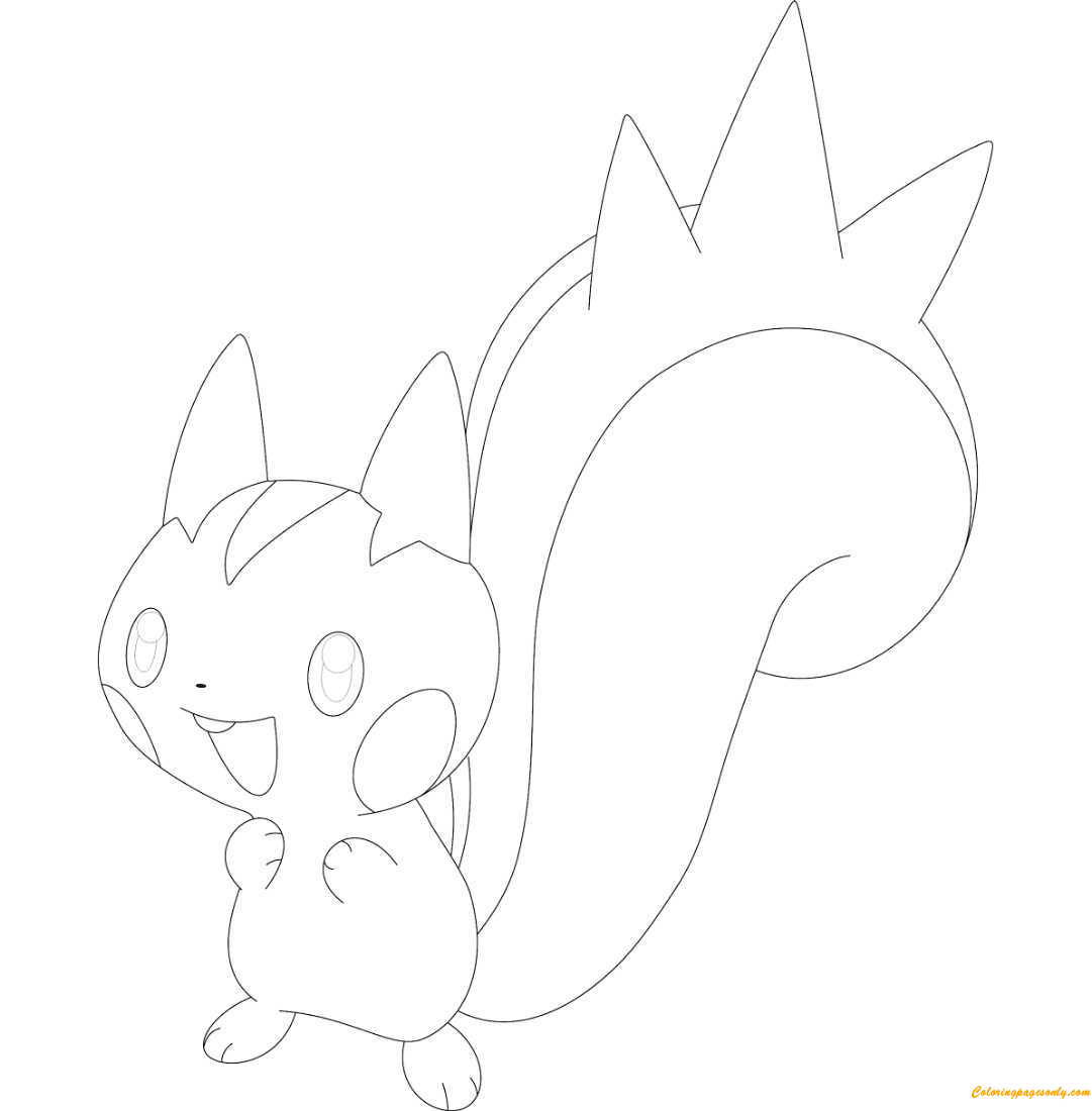 Pachirisu Pokemon Coloring Page Free Coloring Pages Online