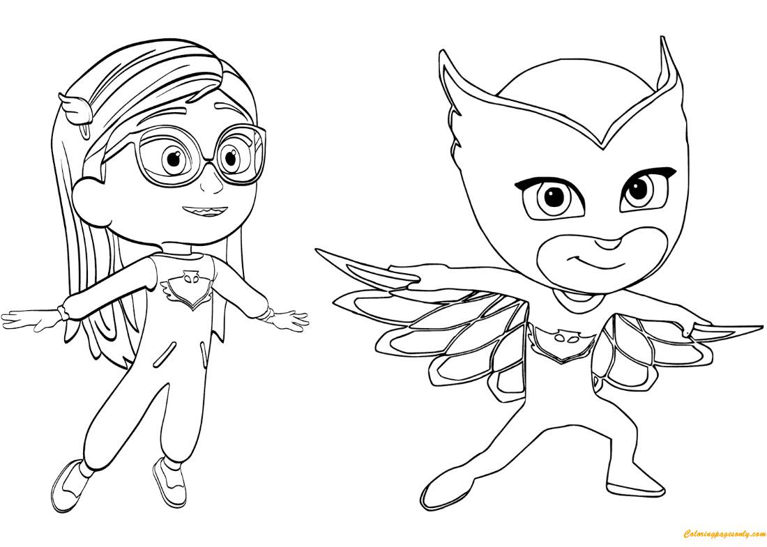 Pajama Hero Amaya Coloring Page - Free Coloring Pages Online