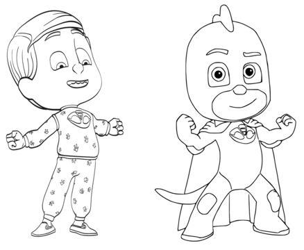 Pajama Hero Greg Coloring Page