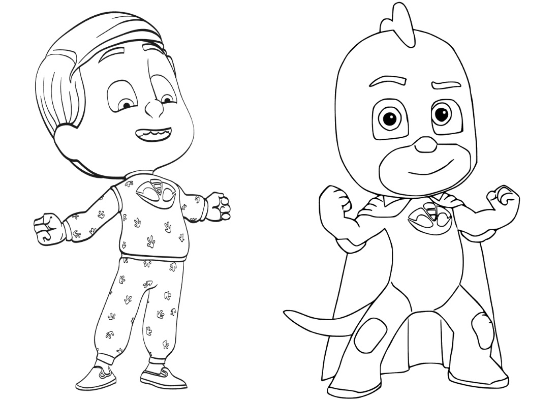 Pajama Hero Greg Coloring Page