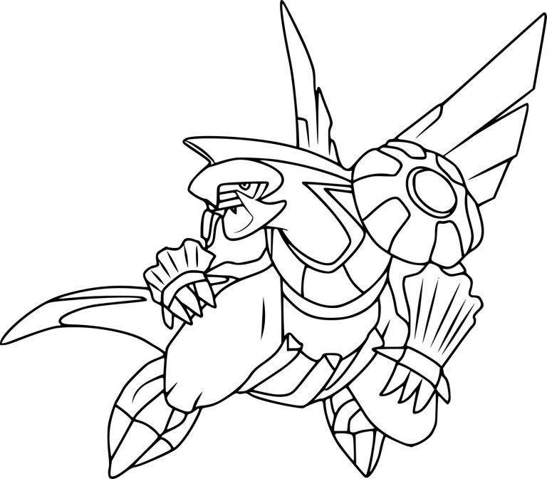 Palkia Legendary Pokemon Coloring Page