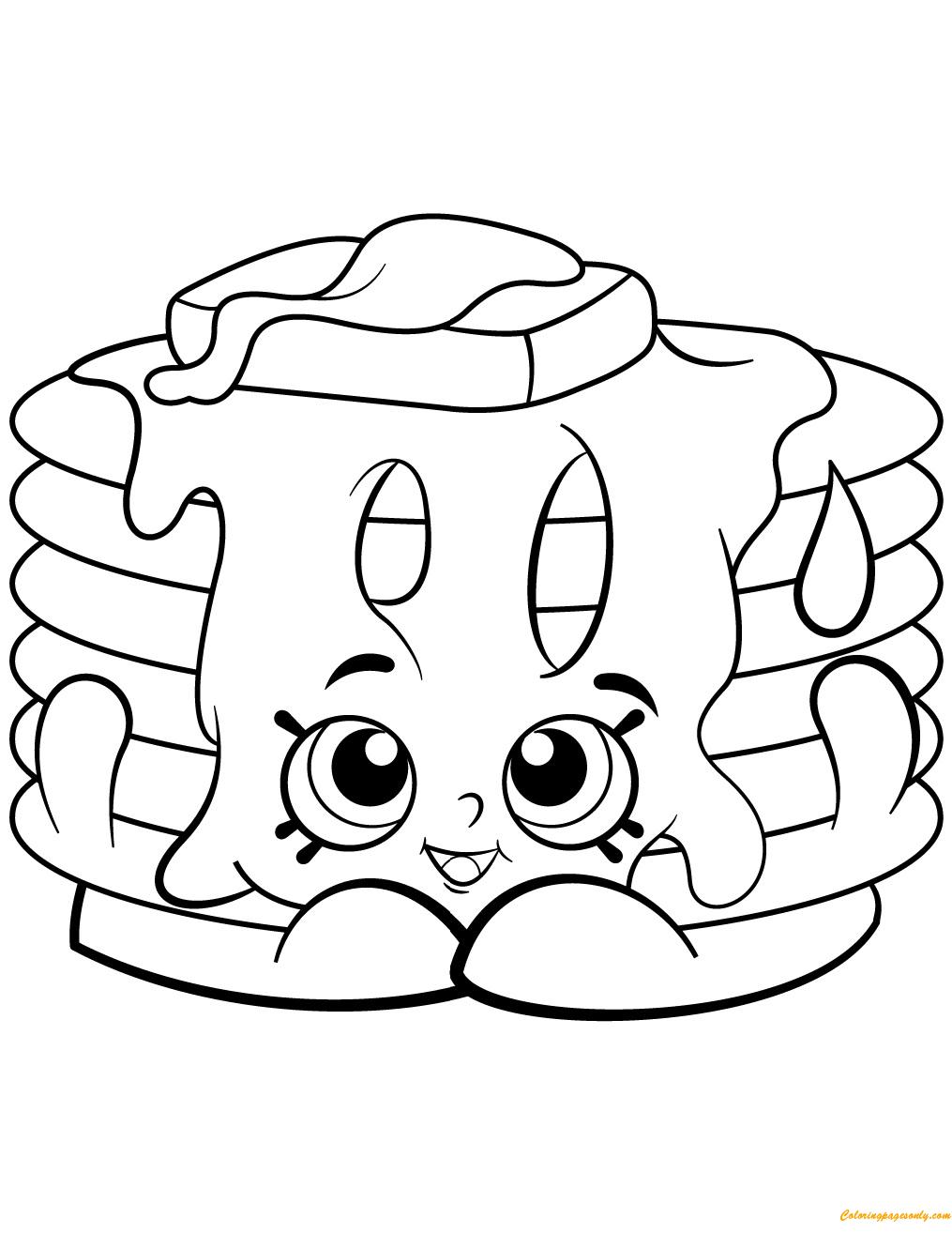 Pamela Pancake Shopkin Season 2 Coloring Page