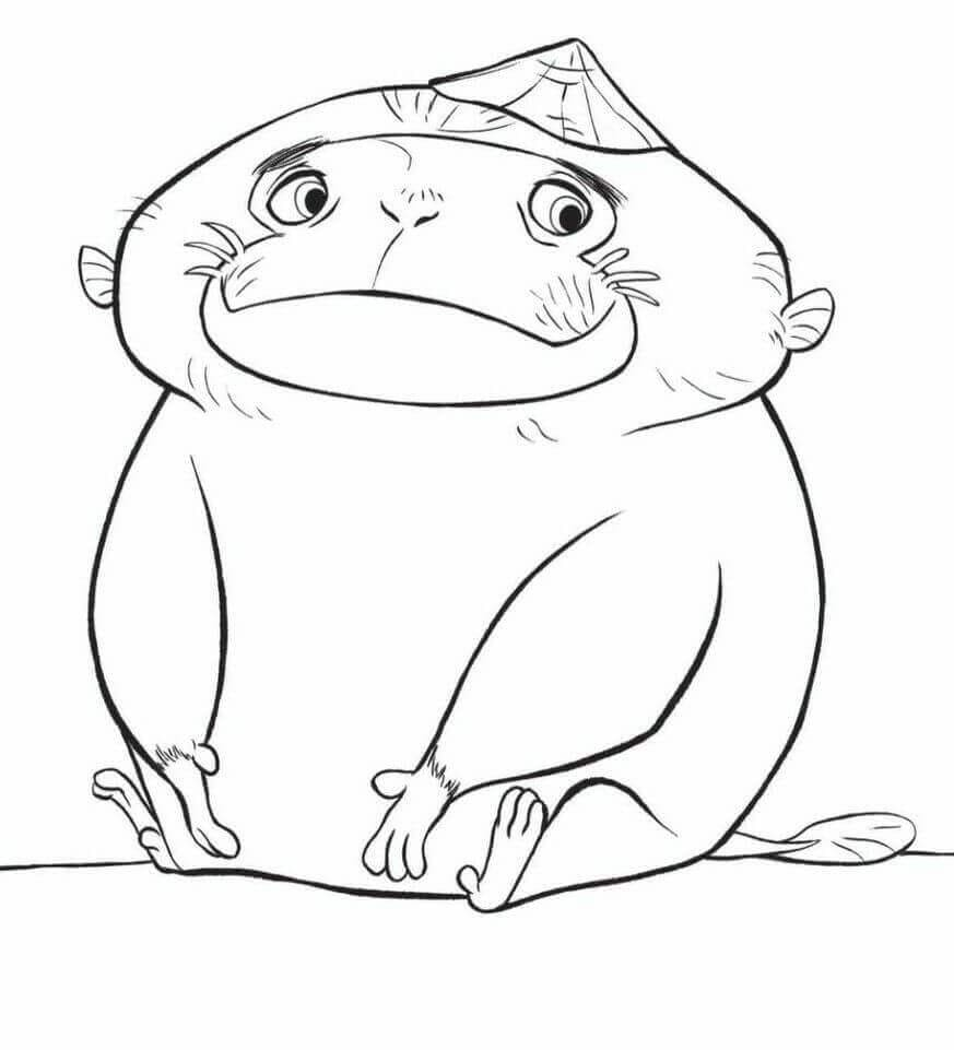 Pan is one of Team Ongis Coloring Page