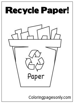 Paper Recycling Bin Coloring Pages
