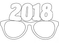 Party Glasses 2018 Coloring Page
