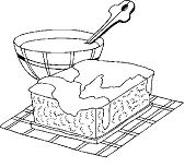Pastry Desserts Coloring Page