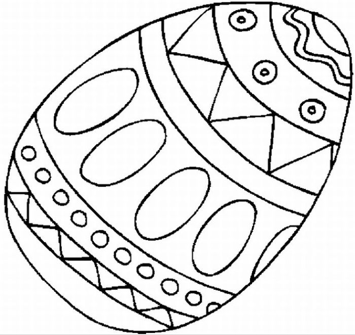 Pattern of Easter Egg Coloring Page