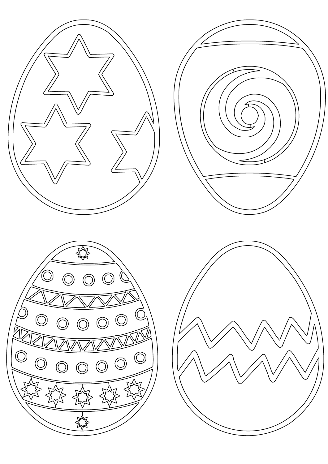 Patterns on Easter Eggs