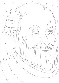 Paul Cezanne Portrait Coloring Page