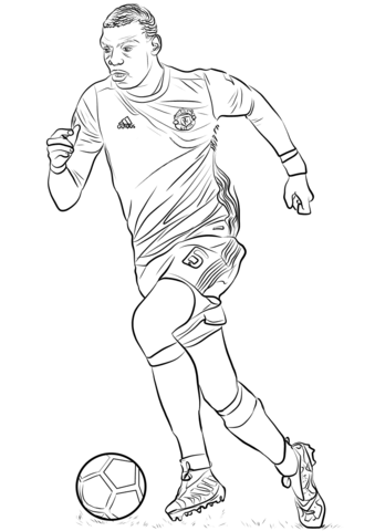 Paul Pogba-image 2 Coloring Page