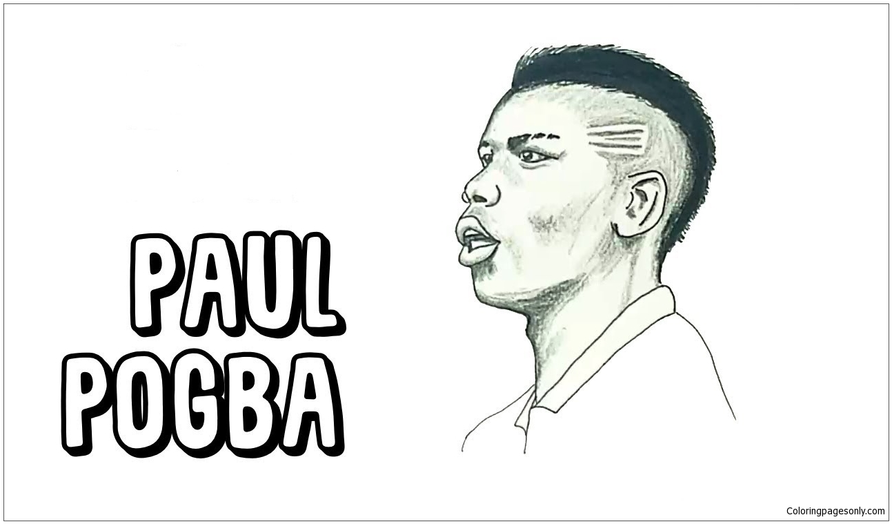 Paul Pogbaimage 3 Coloring Page Free Coloring Pages Online