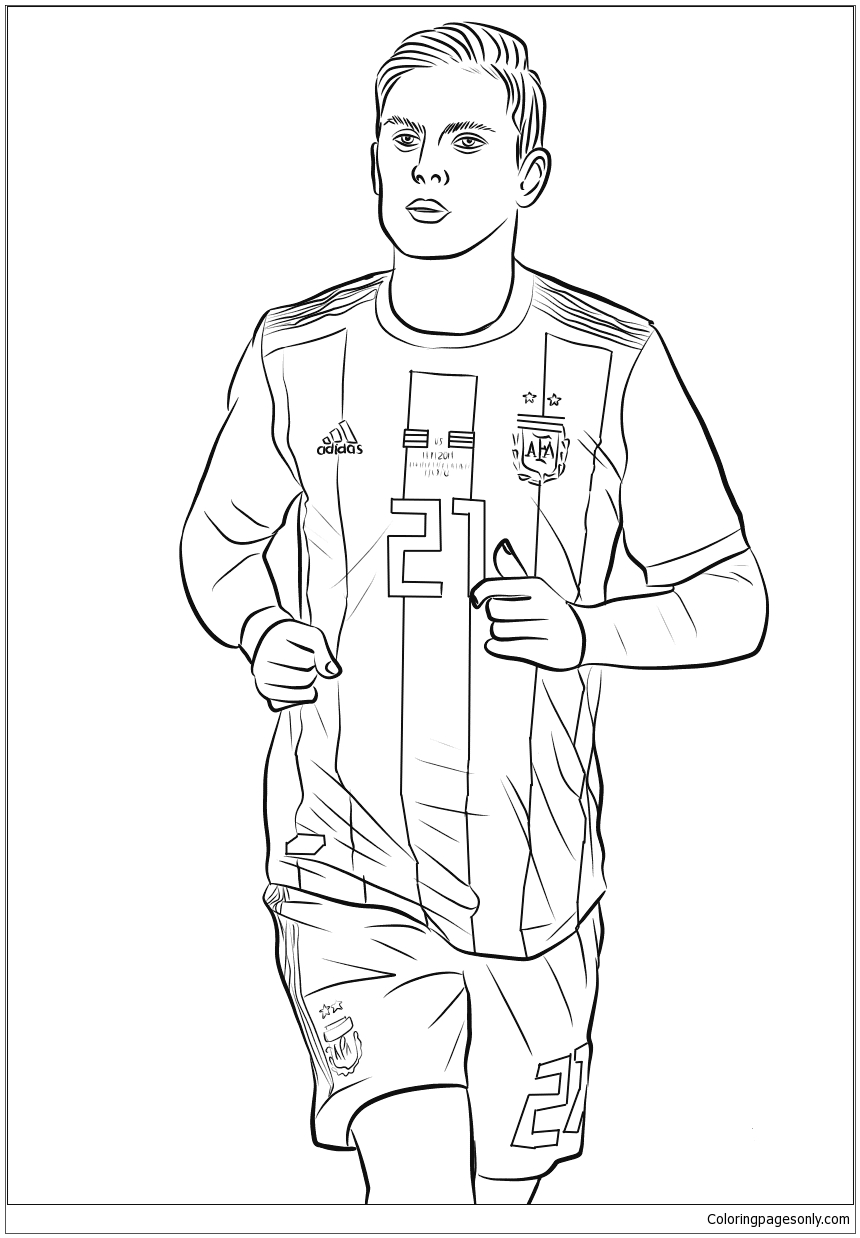 Paulo Dybala Image 1 Coloring Page Free Coloring Pages