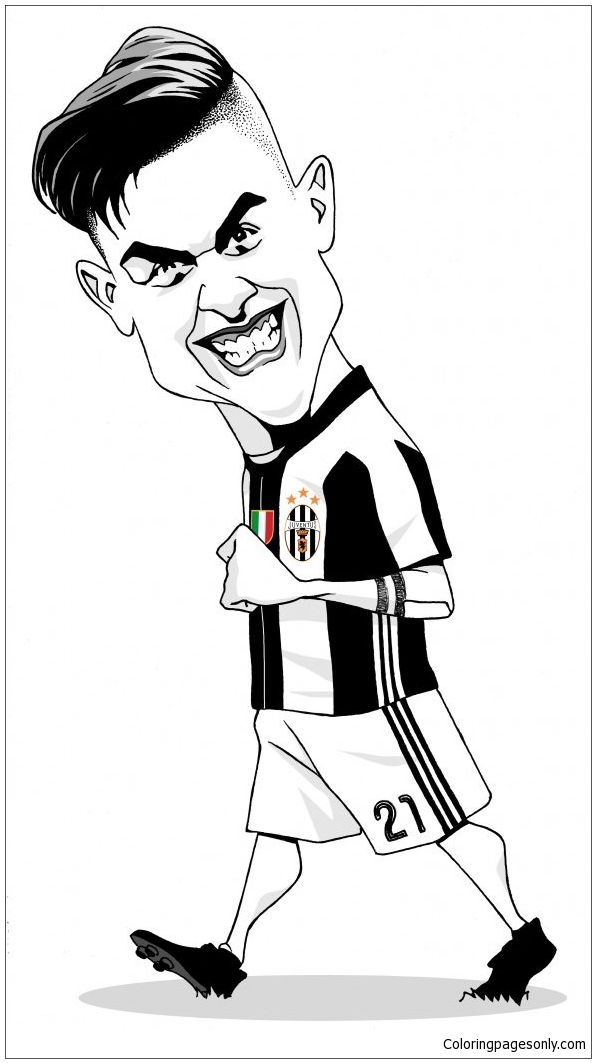 Paulo Dybala Image 2 Coloring Page Free Coloring Pages