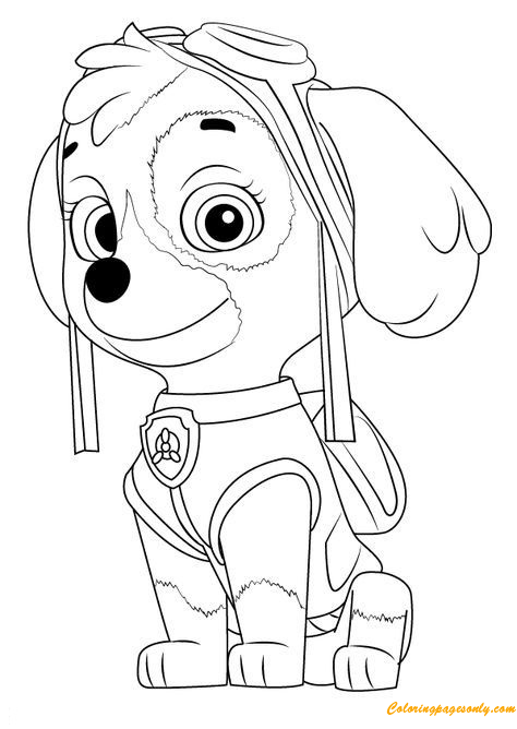 Paw Patrol Coloring Pages Of Skye